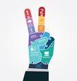 Infographic Template victory finger business vector image