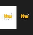 letter ttw logo template premium monogram vector image vector image