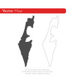 map israel isolated black on vector image vector image