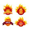 mega sale hot discounts best offer 50 percent off vector image vector image