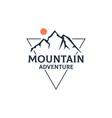 mountain adventure outdoor logo design vector image vector image