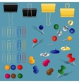 office supplies set vector image vector image