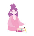 online education student girl with books and vector image vector image