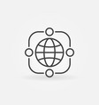 outsourcing icon with earth symbol in vector image vector image