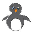 penguin hand drawn design on white background vector image