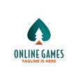 plants online games logo vector image vector image