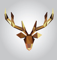 polygonal of deer head vector image