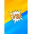 pop art duel concept vector image vector image