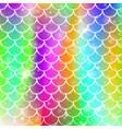 princess mermaid background with kawaii rainbow vector image