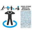Prison Icon with 1000 Medical Business Pictograms vector image