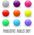 realistic glossy spheres or button set vector image vector image
