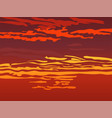 red orange sky after sunset vector image vector image