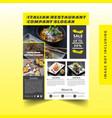 restaurant flyer vector image vector image