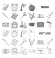 school and education monochrom icons in set vector image vector image