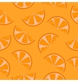 Seamless pattern of orange slices vector image