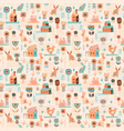 seamless pattern with easter symbols and vector image