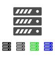 server flat icon vector image vector image