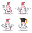set of cleaner character with two finger wink vector image