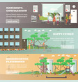 set of maternity hospital and kindergarten vector image vector image