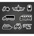 Set of sticky stickers transport symbols vector image