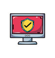 shield security protection inside computer vector image