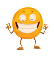 smirk coin icon for game apps interface vector image vector image