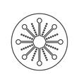 snowflake decoration christmas icon vector image vector image