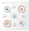 social icons set collection of conversation vector image vector image