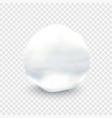 stock snowball closeup ball vector image vector image