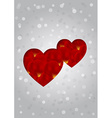 sweet greeting card with hearts and rose petals vector image vector image