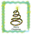 swirly christmas tree isolated icon vector image vector image