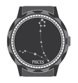 The watch dial with the zodiac sign Pisces vector image vector image