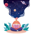 thinking astrology vector image