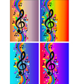 Treble Clef Background vector image vector image