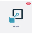 two color enlarge icon from user interface vector image