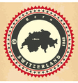 vintage label-sticker cards switzerland vector image