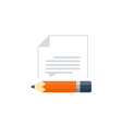 Writing skill and education concept vector image vector image