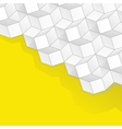 yellow background with volume cubes vector image vector image