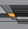 abstract yellow on gray overlap style modern vector image