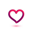 3d heart element for valentines day vector image