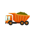 agricultural delivery truck transportation of vector image vector image