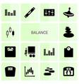 balance icons vector image vector image