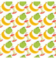 banana and apple seamless pattern wrapping paper vector image