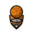 basketball professional championship vintage label vector image vector image