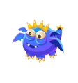 Blue Fantastic Friendly Pet Dragon With Four Wings vector image vector image