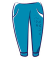 blue man pants on white background vector image vector image