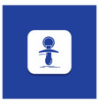 blue round button for baby dummy newbie nipple vector image