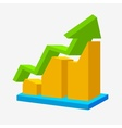 Chart icon arrow up statistic sign vector image vector image