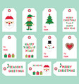 christmas labels set vector image vector image
