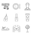 collaborator icons set outline style vector image vector image